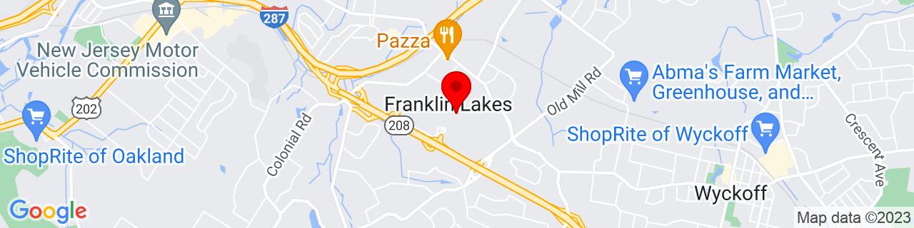 Google Map of 41.016666666666666, -74.20583333333333