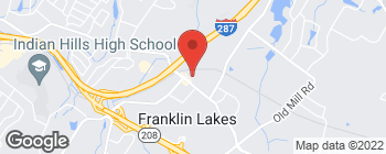Map of 795 Franklin Ave in Franklin Lakes