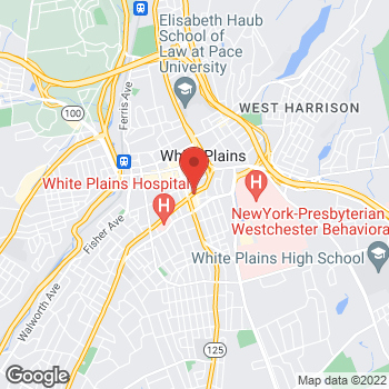Map of Liberty Travel at 185 E Post Rd, White Plains, NY 10601