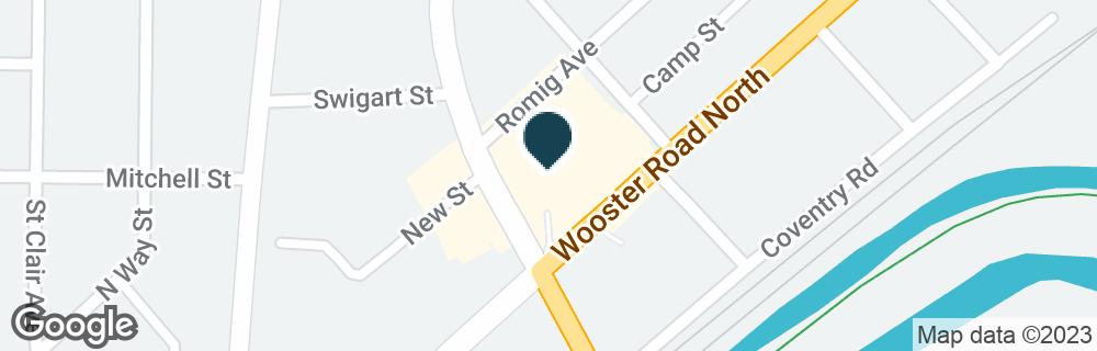 Google Map of900 WOOSTER RD N