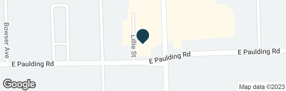 Google Map of1701 E PAULDING RD