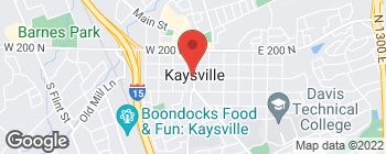 Map of 1 N Main St in Kaysville