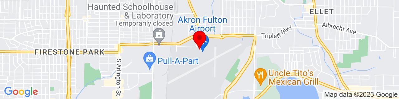 Google Map of 41.040388888888884, -81.46911666666666