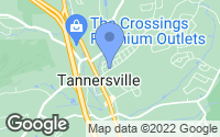 Map of Tannersville, PA