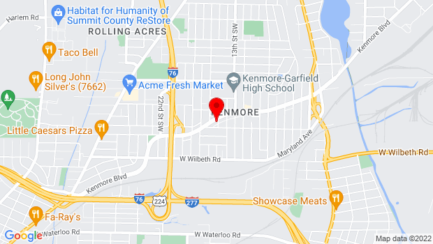 Google Map of 1000 Kenmore Boulevard, Akron, OH 44314