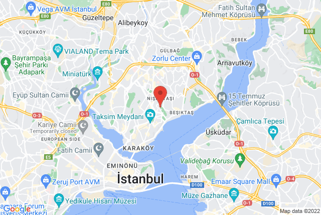 BASI Pilates Tesvikiye Map