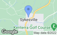 Map of Sykesville, PA