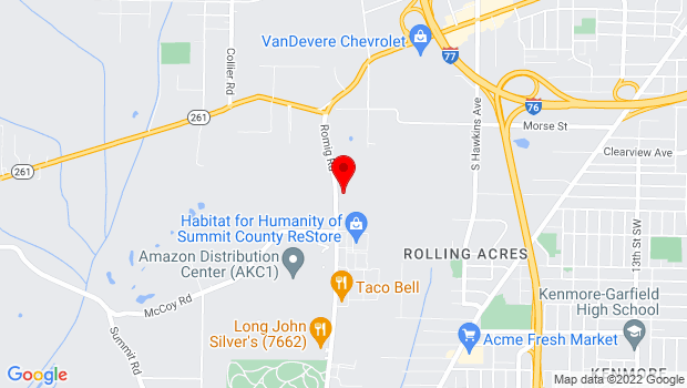 Google Map of 2207 Romig Road, Akron, OH 44320