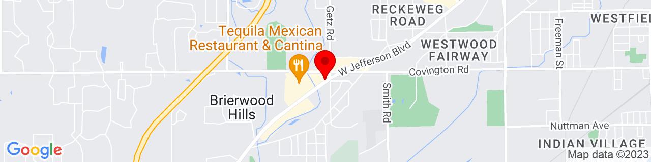 Google Map of 41.0586792, -85.22015840000002