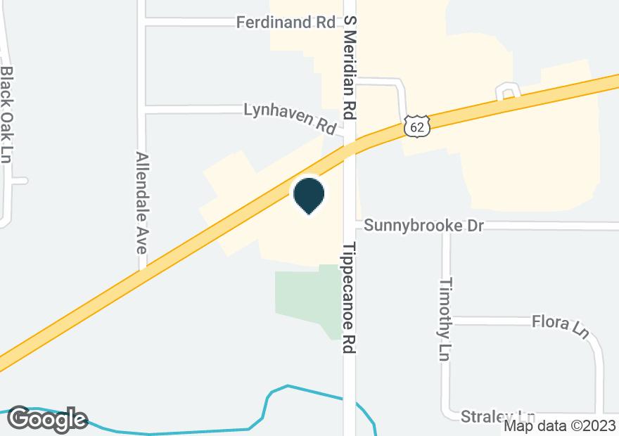 Google Map of3800 TIPPECANOE RD