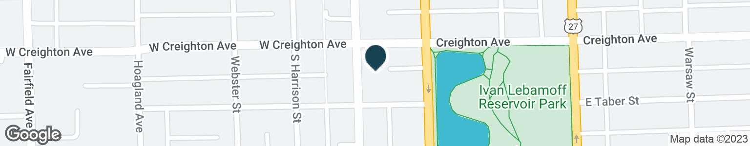 Google Map of110 E CREIGHTON AVE
