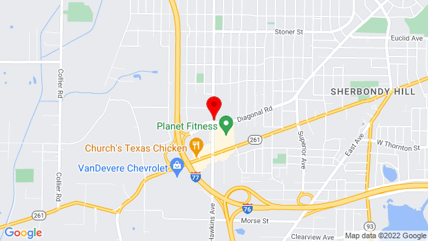 Google Map of 1501 S. Hawkins Avenue, Akron, OH 44320