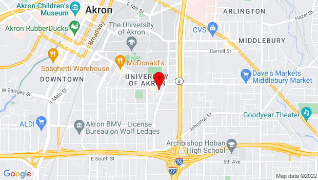 Google Map of 437 Crouse Street, Akron, OH 44311