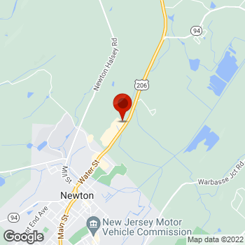 Map of Staples® Print & Marketing Services at 19 Hampton House Rd, Newton, NJ 07860