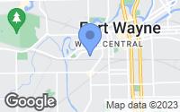 Map of Fort Wayne, IN