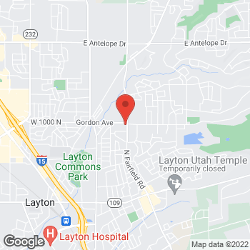 Map of Arby's at 987 N Fairfield, Layton, UT 84040