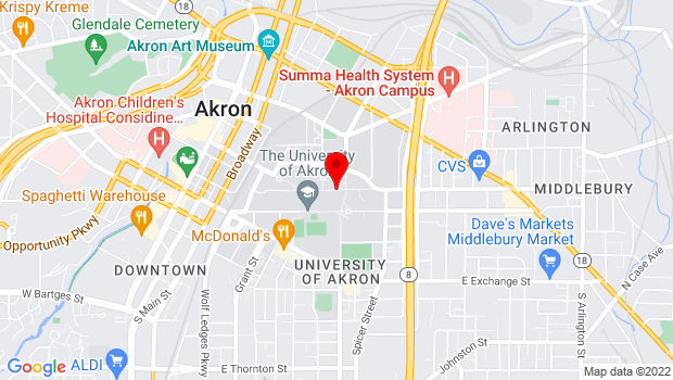 Google Map of 328 Buchtel Commons, Akron, OH 44304