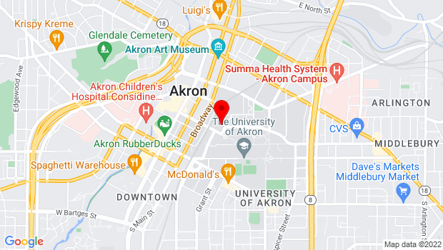 Google Map of 198 Hill St., Akron, OH 44325