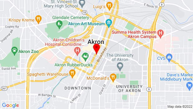 Google Map of 235 S High St, Akron, OH 44308
