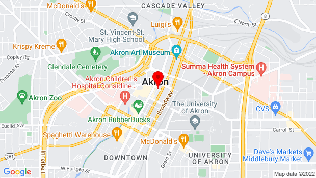 Google Map of Maiden Lane, Akron, OH 44308