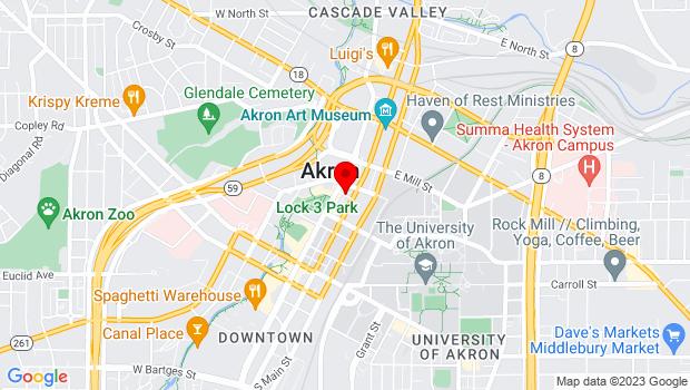 Google Map of Maiden Lane, Akron, OH 44308