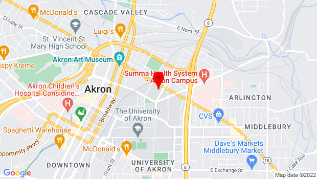 Google Map of 292 East Market St., Akron, OH 44308
