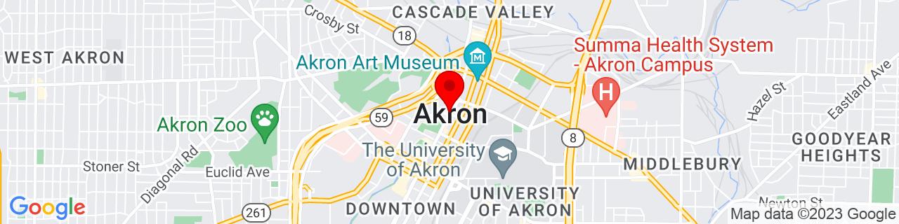 Google Map of 41.081388888888895, -81.51888888888888