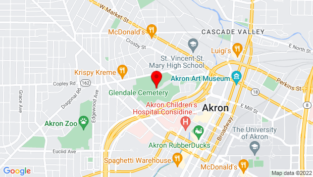 Google Map of 150 Glendale Ave., Akron, OH 44302