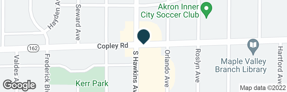 Google Map of1303 COPLEY RD