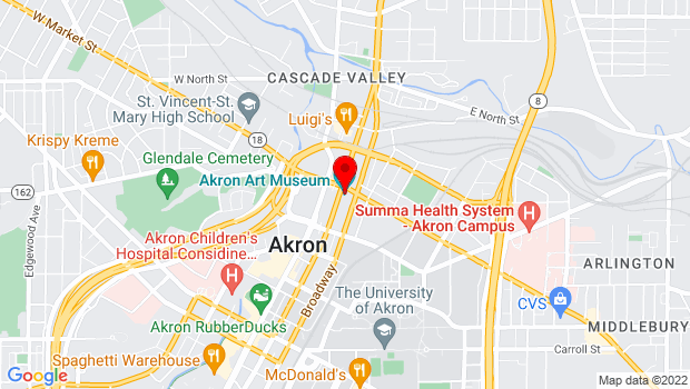 Google Map of 1 South High, Akron, OH 44308
