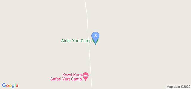 Location of Aidar Yurt Camp on map