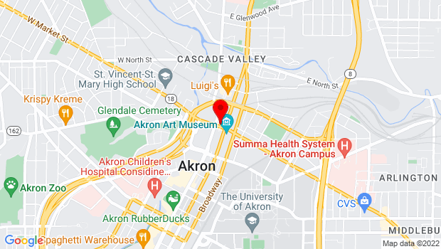 Google Map of 47 E. Market Street , Akron, OH 44308