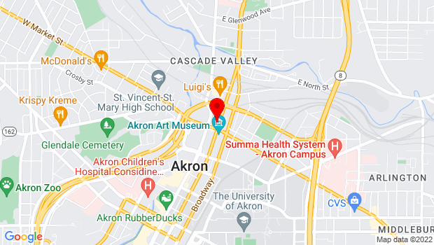 Google Map of 22 North High Streeta, Akron, OH 44308