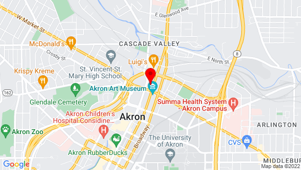Google Map of 51 East Market St, Akron, OH 44308