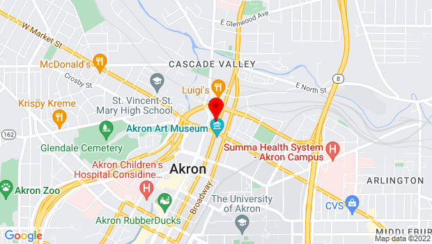 Google Map of 30 N High St, Akron, OH 44308