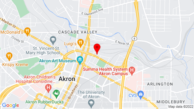 Google Map of 152 Bluff St, Akron, OH 44304