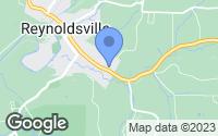 Map of Reynoldsville, PA