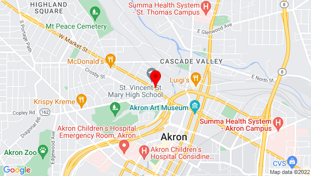Google Map of 143 West Market Street, Akron, OH 44303