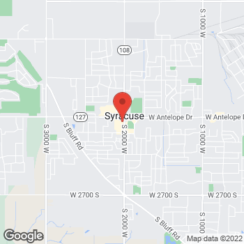 Map of Arby's at 1766 South 2000 West, Syracuse, UT 84075