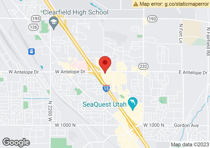 Google Map of 1171 W 2000 N ANTELOPE DR