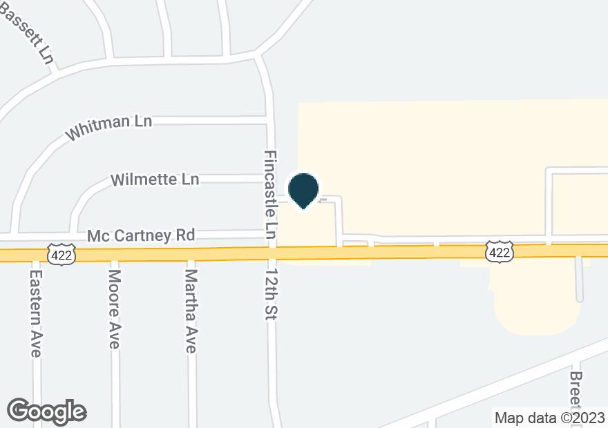 Google Map of2864 MCCARTNEY RD