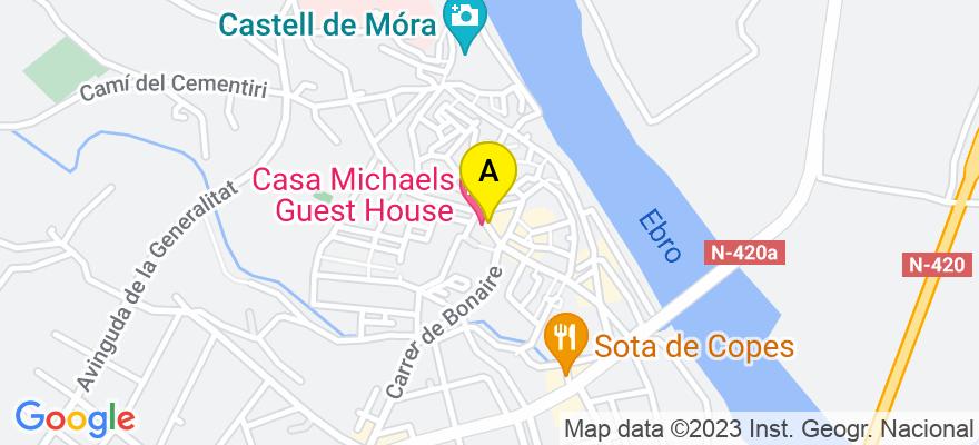 situacion en el mapa de . Direccion: Santa Madrona 8, 1º, 43740 Móra d'Ebre. Tarragona