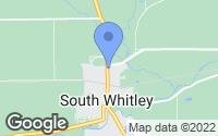 Map of South Whitley, IN