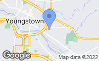 Map of Youngstown, OH