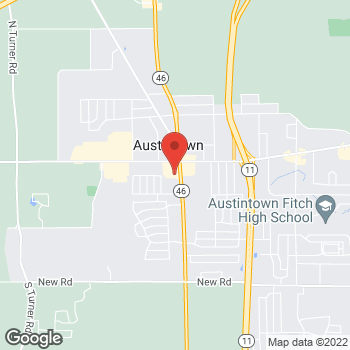 Map of Verizon Authorized Retailer – TCC at 5507 Mahoning Ave., Austintown, OH 44515