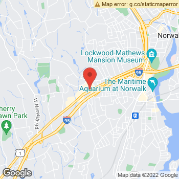 Map of Dr. Patrice Marra, Optometrist, and Associates - Norwalk at 350 Connecticut Avenue, Norwalk, CT 06854