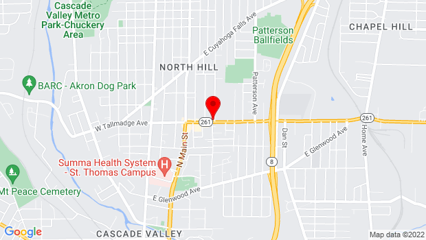 Google Map of 207 East Tallmadge Avenue, Akron, OH 44310