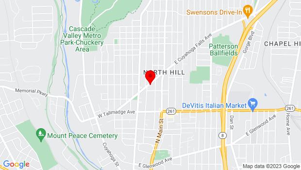 Google Map of 66 E. Cuyahoga Falls Ave, Akron, OH 44310