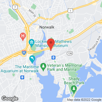 Map of Rite Aid at 190 East Avenue, Norwalk, CT 06855