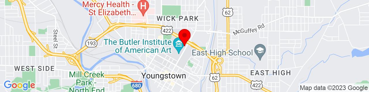 Google Map of 41.1072342, -80.6444461